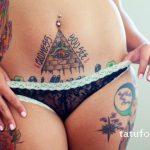 Tattoo-Auge im Dreieck für ein Mädchen - ein Foto des fertigen Tätowierung 13052016 3