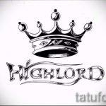 Tattoo-Designs von der Krone mit dem Namen - Zeichnung Tätowierung auf 15052016 1