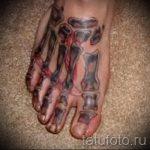 Tattoo auf dem Fußknochen - Foto Beispiel des fertigen Tätowierung auf 2016.05.23 1