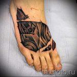 Tattoo auf den Fuß Männer - Foto Beispiel des fertigen Tätowierung auf 2