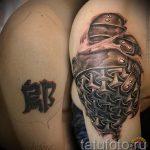 Tattoo-rüstung Kettenhemd - ein Beispiel für die fertigen Tätowierung 16052016 1