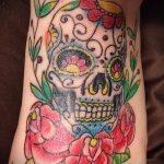 Tattoos on the feet Skull 1