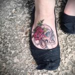 Tattoos on the feet Skull 3
