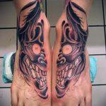 Tattoos on the feet Skull 5