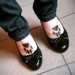 Tattoos on the feet wolf paw 2