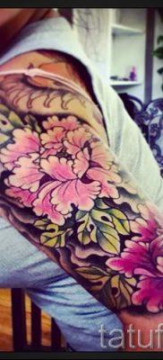 Wert Pfingstrose Tattoos für Mädchen – Foto Beispiel der Tätowierung 15052016 2