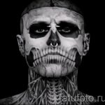 a guy covered in tattoos skeleton 1
