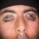 arrow tattoo on the eyelids eyes - an example of the photograph of 22052016 1