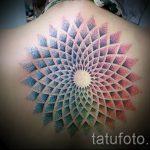 beau mandala tattoo - Photo exemple du tatouage fini sur 01052016 1