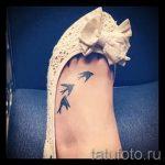 bird tattoo on foot 4