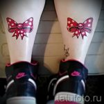 bows tattoo on his feet - Photo example of the finished tattoo 02052016 1