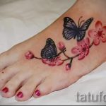 butterfly tattoo on the foot 2