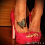 butterfly tattoo on the foot 3