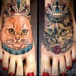 cat tattoo on foot 1