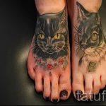 cat tattoo on foot 3