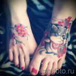cat tattoo on foot 4