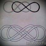 croquis infini tatouage sur son poignet - une variante du motif pour un tatouage 09052016 3003 tatufoto_ru