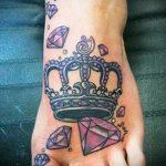 diamond tattoo on the foot 3