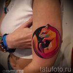 fox curled tattoo - cool tattoo photo on 03052016 1