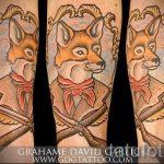 fox tatouage old school - une photo de tatouage fraîche sur 03052016 1