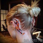 fox tattoo behind the ear - a cool tattoo photo on 03052016 1