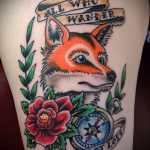 fox tattoo old school - a cool tattoo photo on 03052016 1
