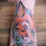 fox tattoo on foot girls - cool tattoo photo on 03052016 1