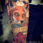 fox tattoo on his arm - a cool tattoo photo on 03052016 1