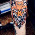 fox tattoo on his arm - a cool tattoo photo on 03052016 2