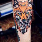 fox tattoo on his arm - a cool tattoo photo on 03052016 2