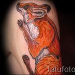 fox tattoo on his hip - a cool tattoo photo on 03052016 1