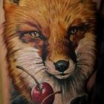 fox tattoo on his hip - a cool tattoo photo on 03052016 2