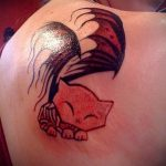 fox tattoo on the shoulder blade - a cool tattoo photo on 03052016 1
