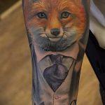 fox tattoo pattern on the wrist - a cool tattoo photo on 03052016 1
