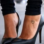 heart tattoo on the foot 1