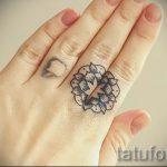 kleines Tattoo-Mandala - Beispielfoto des fertigen Tätowierung auf 01052016 1