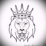 lion avec croquis couronne de tatouage - dessin tatouage sur 15052016 2