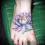 lotus tattoo on foot 1