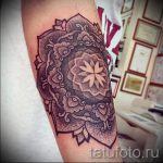 mandala in the shape of a peony tattoo - Photo example of the finished tattoo on 01052016 1