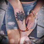 mandala lotus tatouage - Photo exemplaire du tatouage fini sur 01052016 1