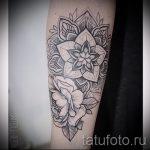 mandala sous la forme d'un tatouage pivoine - exemple photo du tatouage fini sur 01052016 1