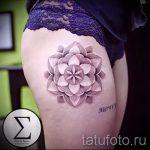 mandala tatouage sur la hanche - exemple photo du tatouage fini sur 01052016 1
