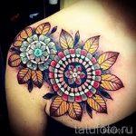 mandala tatouage sur sa clavicule - Photo exemple du tatouage fini sur 01052016 1