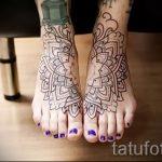 mandala tatouage sur sa jambe - Photo exemple du tatouage fini sur 01052016 1