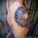 mandala tatouage sur son épaule - exemple photo du tatouage fini sur 01052016 1