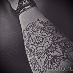mandala tattoo on his arm - Photo example of the finished tattoo on 01052016 2