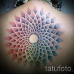 mandala tattoo on his back - Photo example of the finished tattoo on 01052016 2