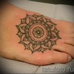 mandala tattoo on his leg - Photo example of the finished tattoo on 01052016 1