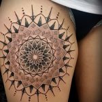 mandala tattoo on his leg - Photo example of the finished tattoo on 01052016 2