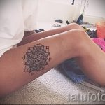 mandala tattoo on his leg - Photo example of the finished tattoo on 01052016 3